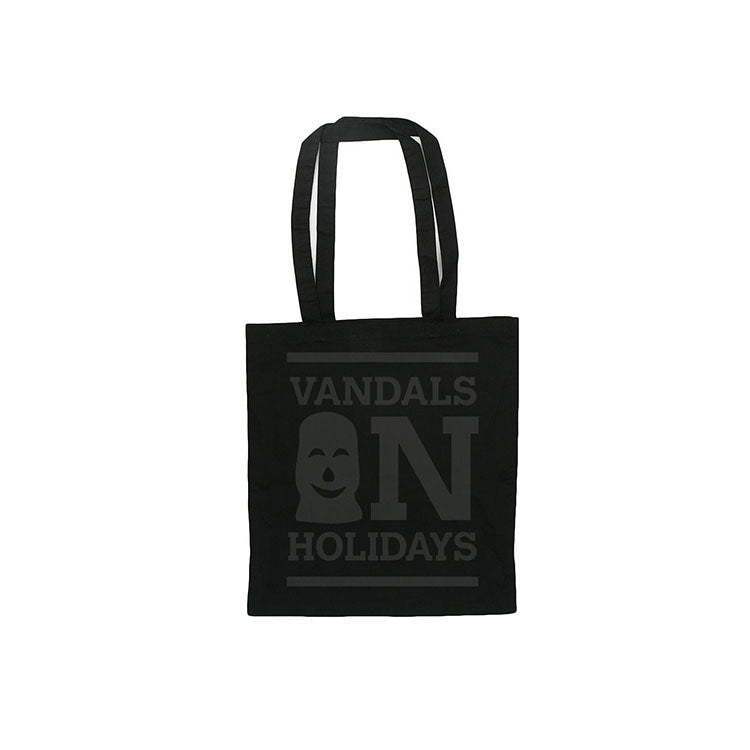 Vandals on Holidays Black Logo Tote