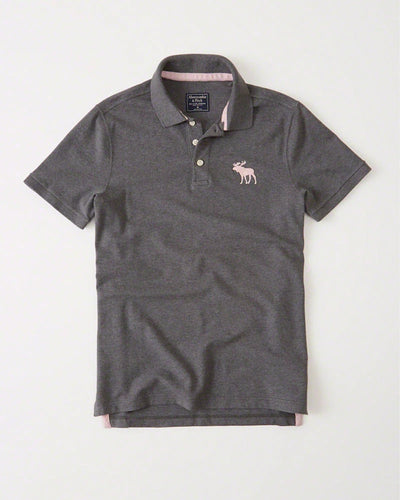 A&F Big Icon Stretch Polo
