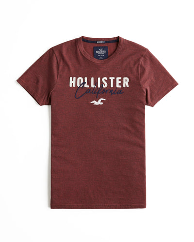 Hollister Muscle Fit Logo Graphic Tee
