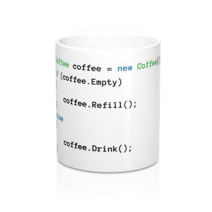 Coffee Coding Mug 11oz