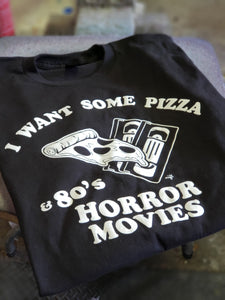Horror Movies and Pizza Unisex T-shirt