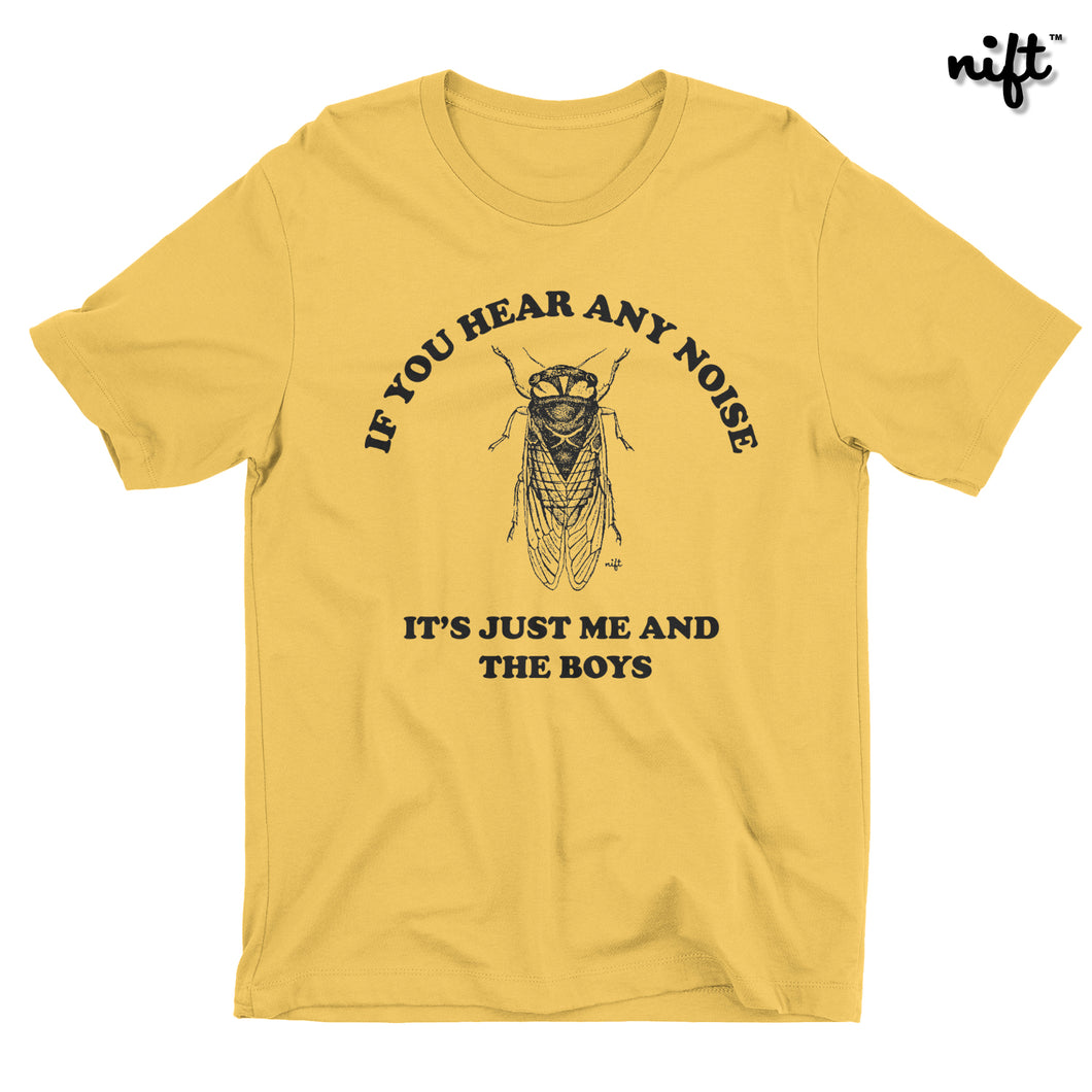If You Hear Any Noise It's Just Me and the Boys T-shirt