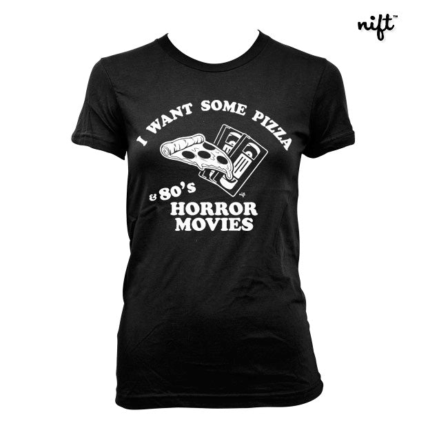 Horror Movies and Pizza Women's T-shirt
