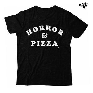 Horror and Pizza Unisex T-shirt
