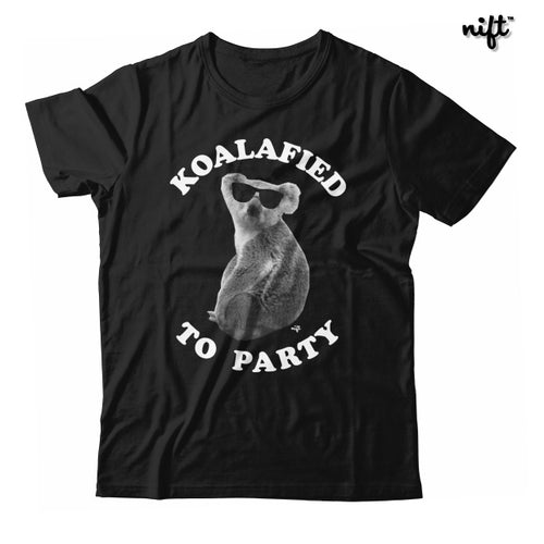 Koalafied To Party Animal Pun Unisex T-shirt