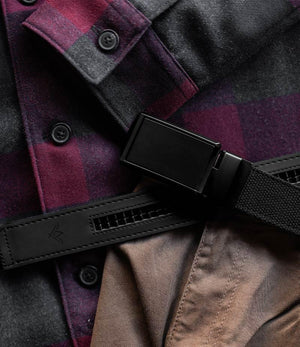 Black Canvas Belt-Matte Black Belt Buckle