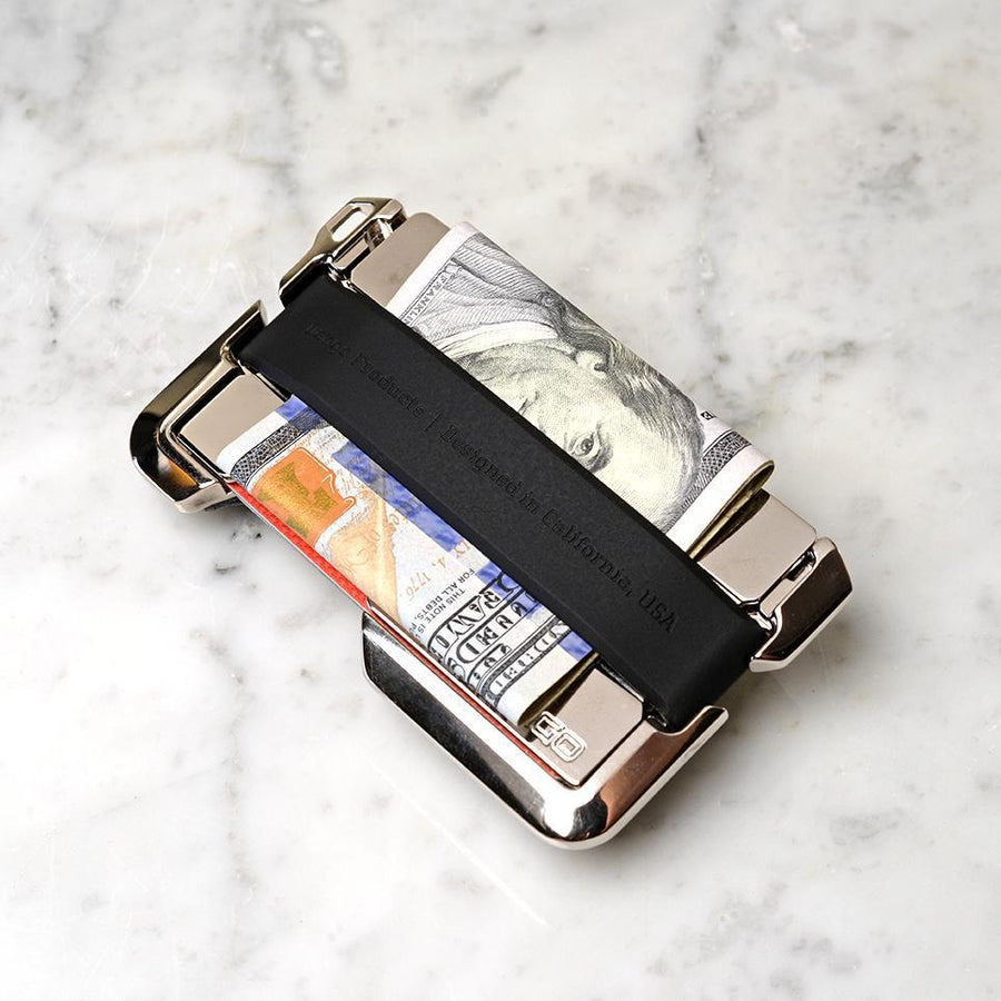 D02 Dapper Wallet-Nickel Plated Rawhide