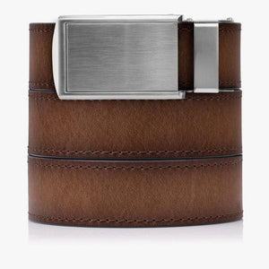 Adobe Premium Full Grain Leather Belt-Silver Belt Buckle