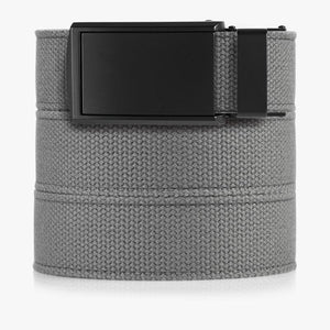 Grey Canvas Belt-Matte Black Belt Buckle