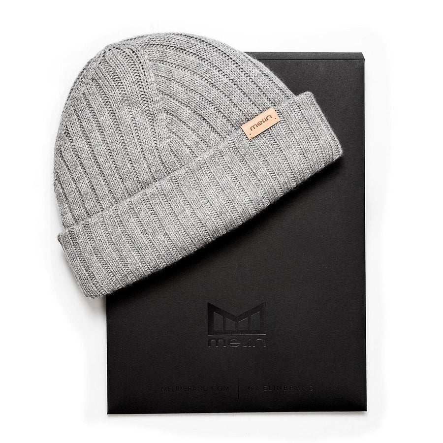 All Day Rib Knit Cashmere Beanie