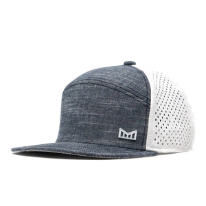 Trenches Performance Snapback Hat-Grey/White