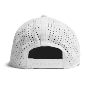 Amphibian Waterproof Performance Snapback Hat-Grey/White