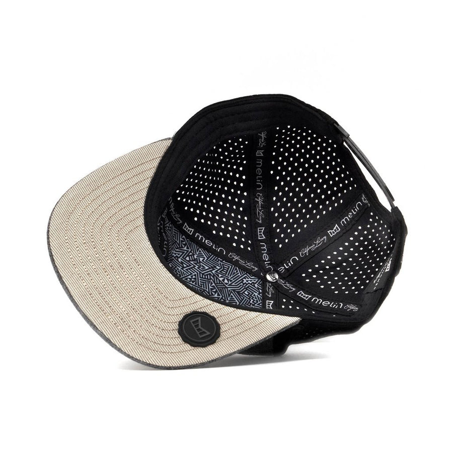 Trenches Performance Snapback Hat-Grey/Black