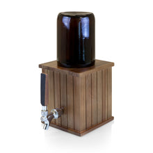 Load image into Gallery viewer, GROWLER TAP WITH 64 OZ. GLASS GROWLER, (ACACIA WOOD)
