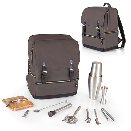 BAR-BACKPACK PORTABLE COCKTAIL SET, (GRAY)