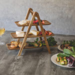 Load image into Gallery viewer, SERVING LADDER - 3 TIERED SERVING STATION (ACACIA WOOD)