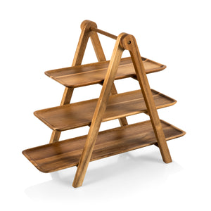 SERVING LADDER - 3 TIERED SERVING STATION (ACACIA WOOD)
