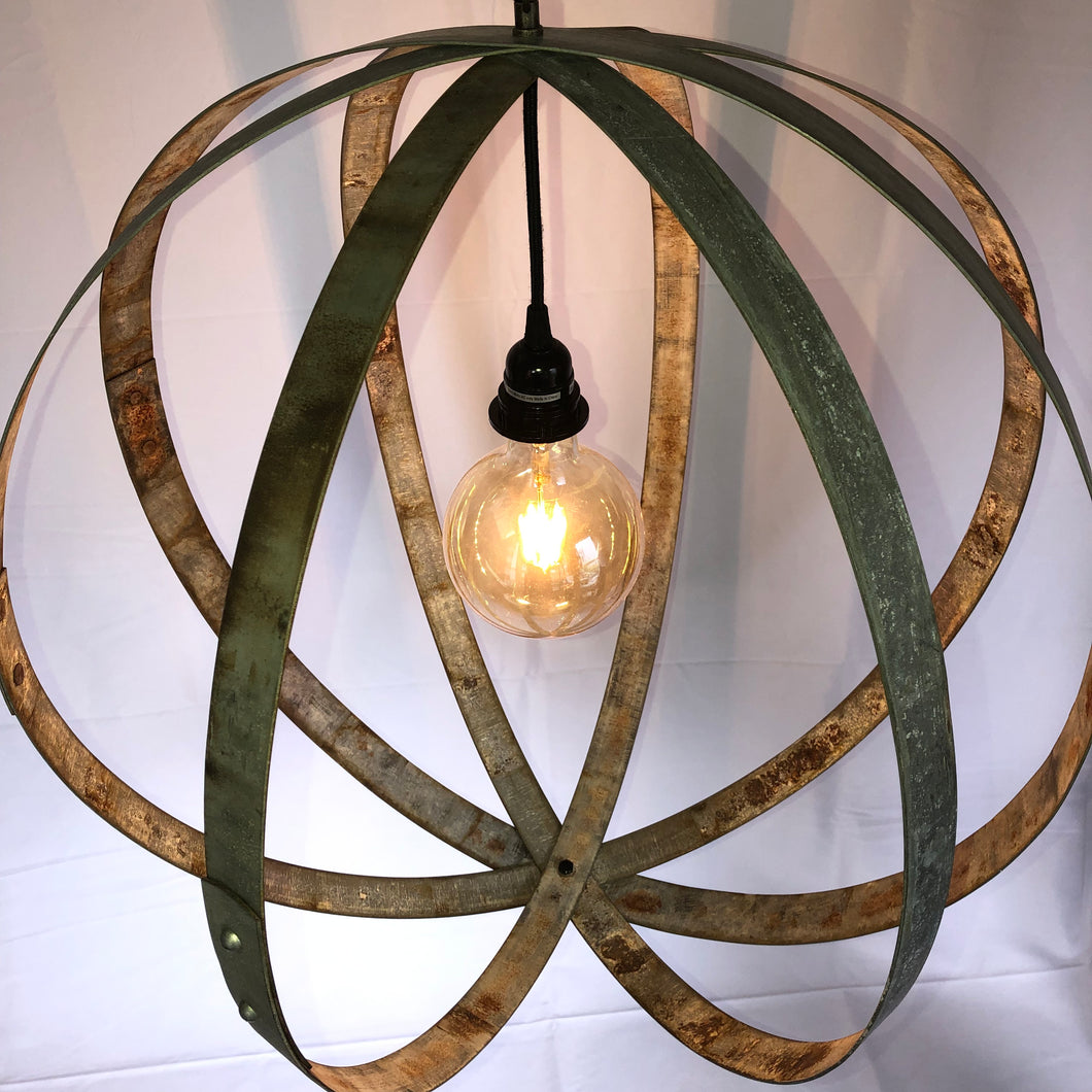 Wine Barrel Hoop Chandelier