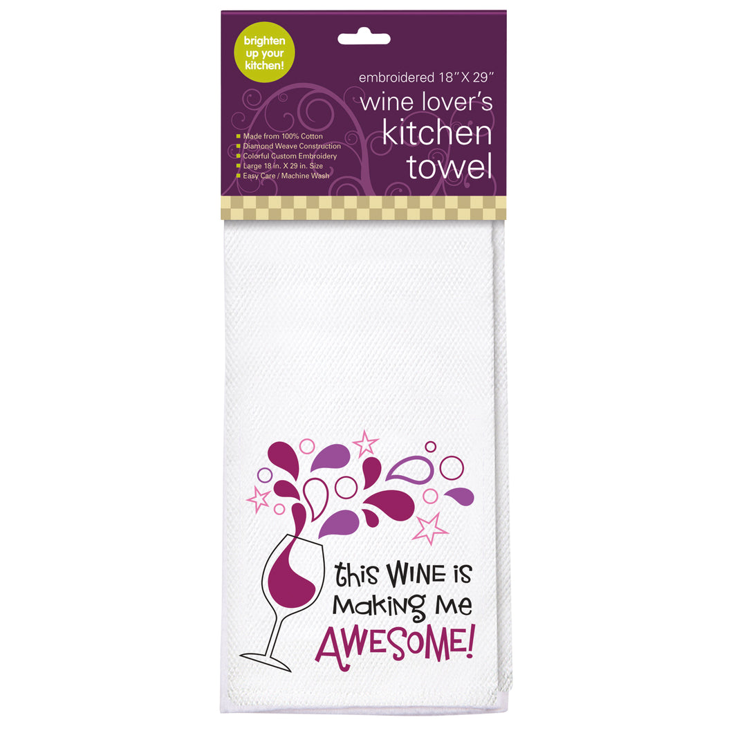 Awesome Embroidered Kitchen Towel