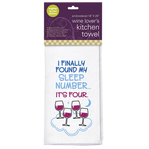 Sleep Number Embroidered Kitchen Towel