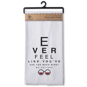 Wine Eye Chart Flour Sack Kitchen Towel