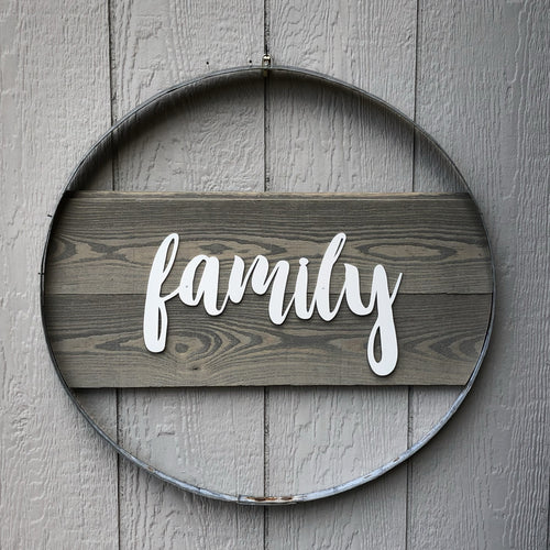 Family Wall Hoop