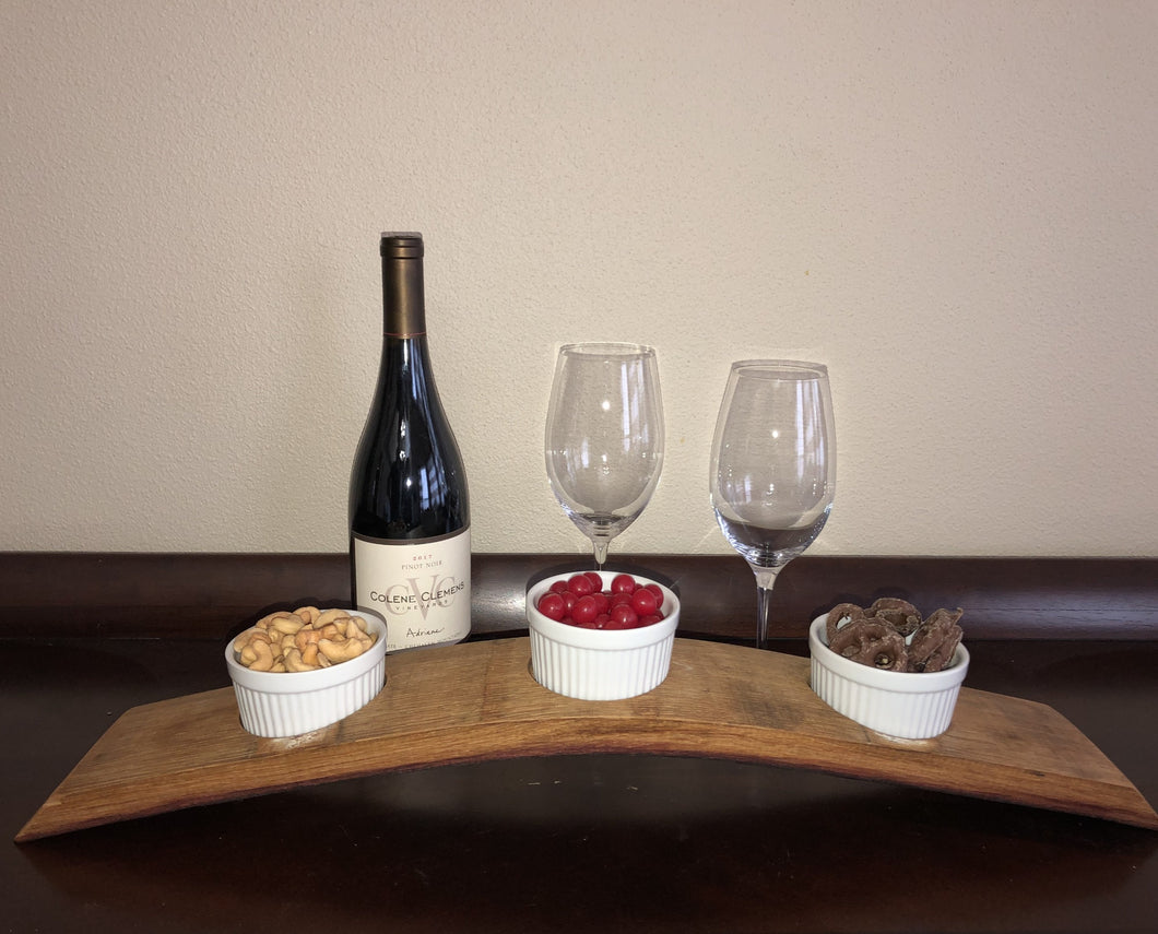 Wine Stave Snack Tray