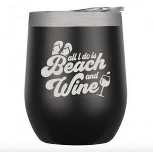 Beach and Wine Tumbler