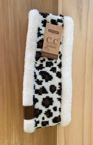 C.C headband/ear warmers -animal print