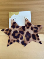 LambFish- Leather Star earrings