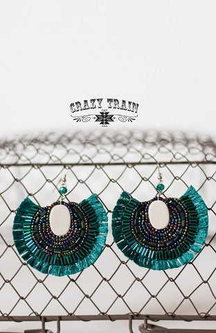 Trendy Teal Earrings