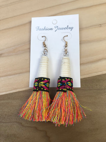 Ribbon/Thread drop earrings