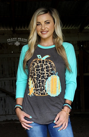 Leaves of Leopard Baseball Tee