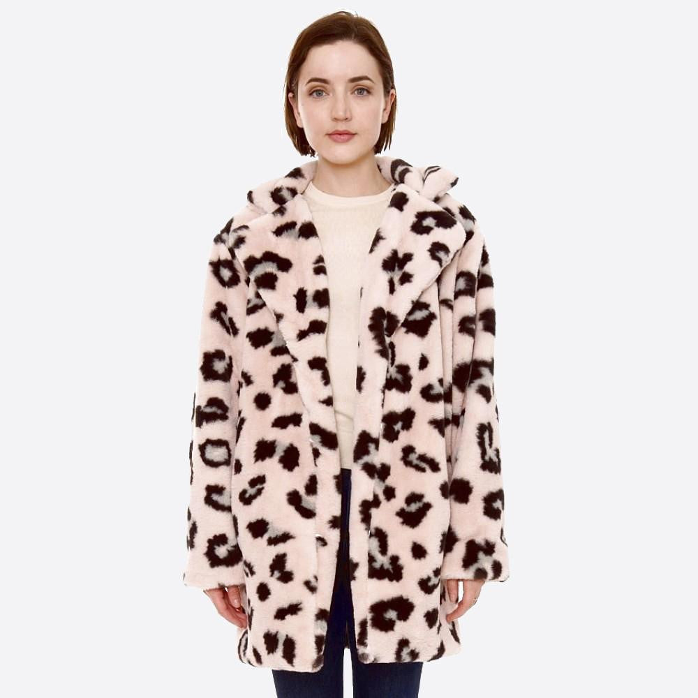 Fur-like jackets- Leopard (variety of colors)
