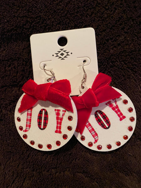 Holiday - Disc earrings, holiday greetings