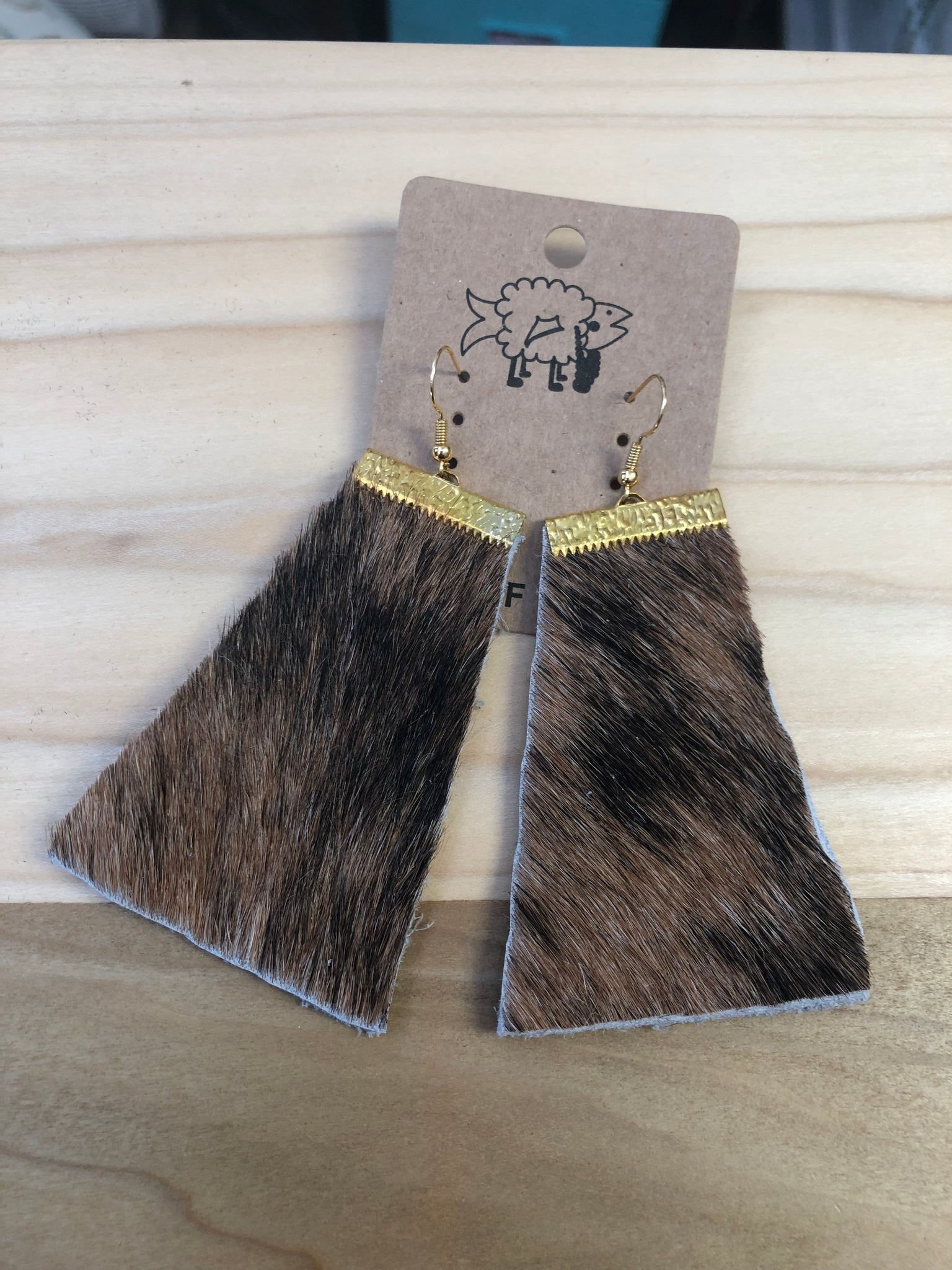 Fur/Leather earrings