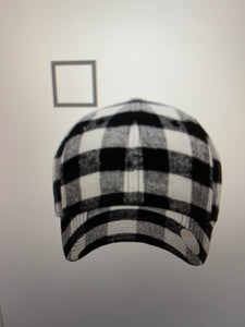 Plaid Flannel Baseball Caps
