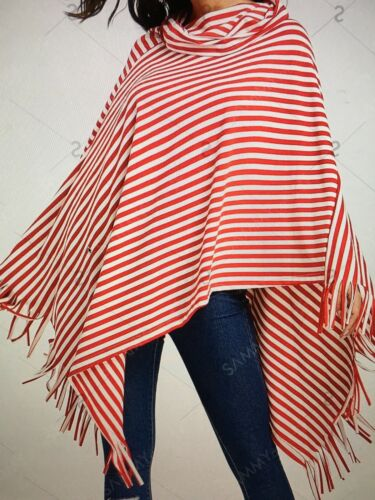 Red and White poncho