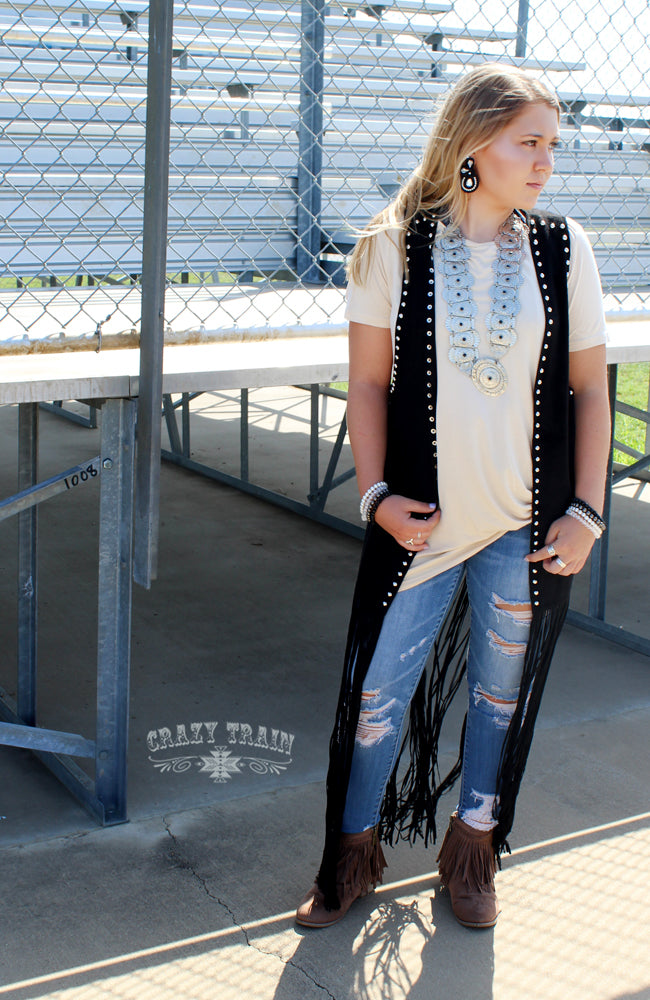 Studded Fringe Duster