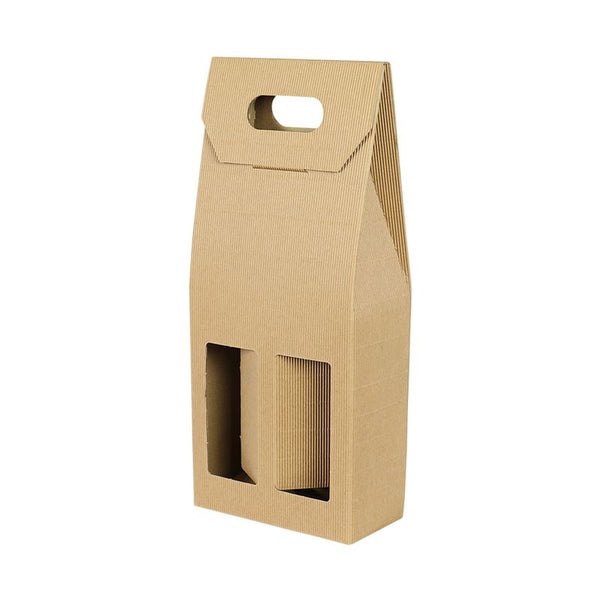 2 Bottle Fluted Gift Carton