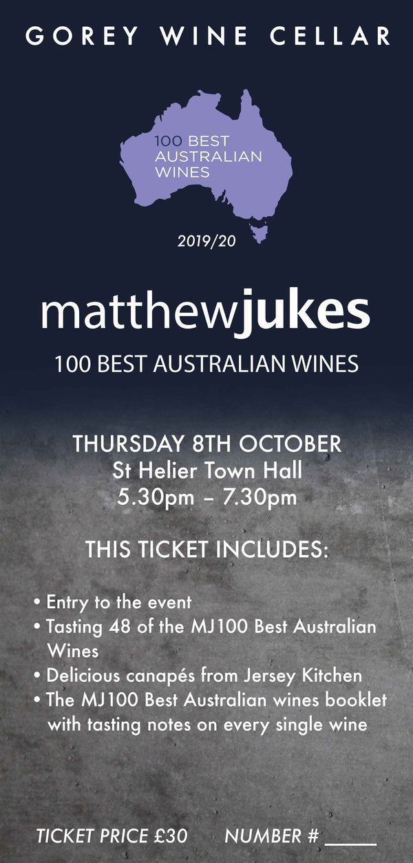 TICKET FOR MATTHEW JUKES 100 BEST AUSTRALIAN WINES ROADSHOW 2020