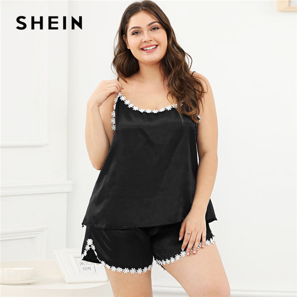 d92bc3ffc9f Plus Size Cami Top With Shorts Women Pajama Set – picknclick.com.au