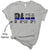 Tshirt XS / Heather Grey Back The Blue - Blue Line Parent