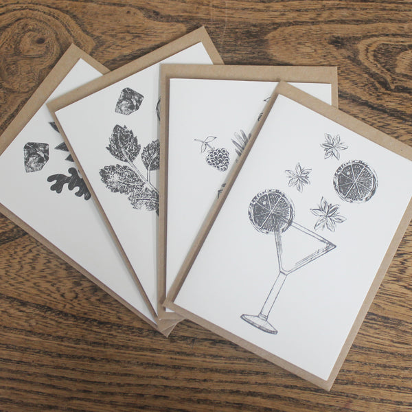 BOTANICAL COCKTAIL NOTECARDS