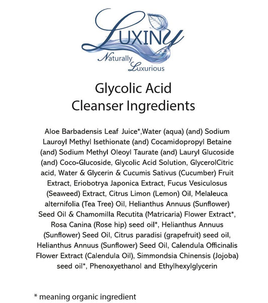 glycolic acid cleanser ingredients