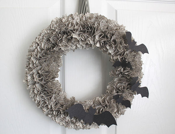 Book Page Wreath - Enliven Unwanted Book Pages