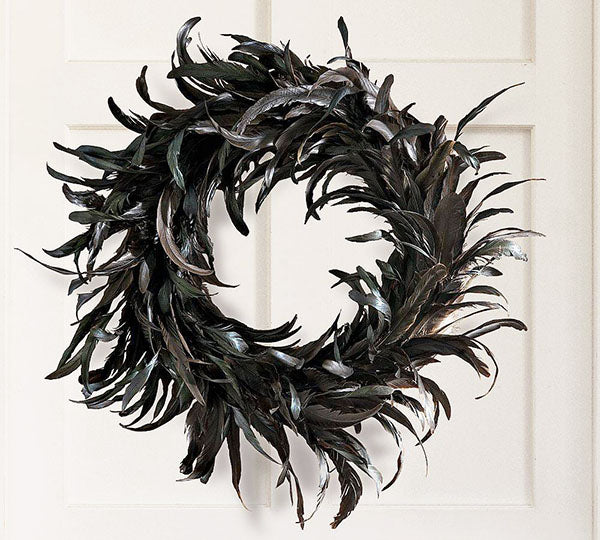 Feathered Wreath - This Array of Feathers Will Send the Crows Cawing