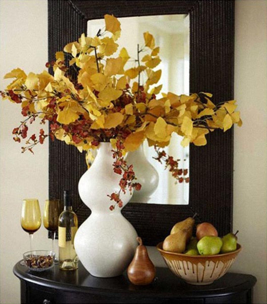 Yellow Leaves and Pears - Season's Fruitful Decor