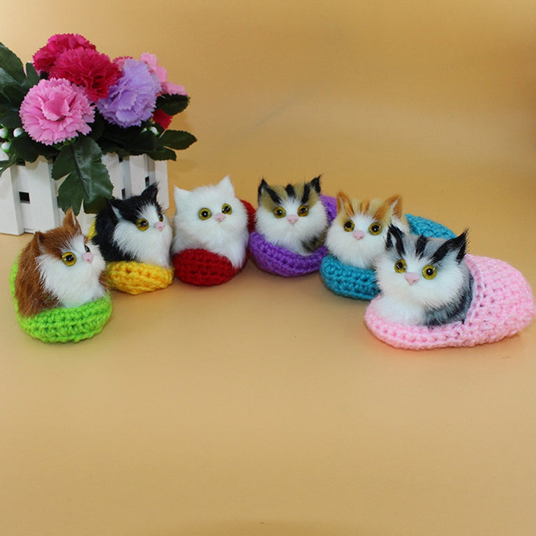 Cute Plush Cat Soft Animal Toys Doll Lifelike Simulation Kids Girls Xmas Gift Decoration Crafts Figurines & Miniatures