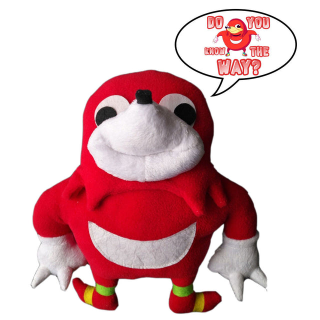 Ugandan Knuckles Plush Toy Soft Stuffed Figure Doll 25cm